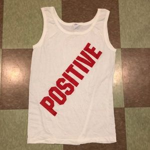 Vtg UO 'positive' tank top USA logo graphic md
